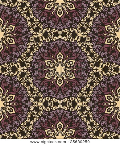 Colorful hand drawn seamless pattern in ethnic style