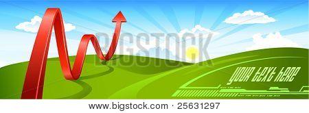 Summer Landscape Business Arrow