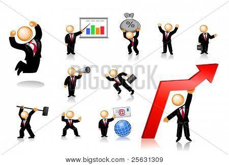 Businessmen Icon Set 1