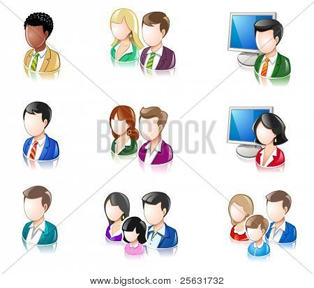 Various People Glossy IconSet 2