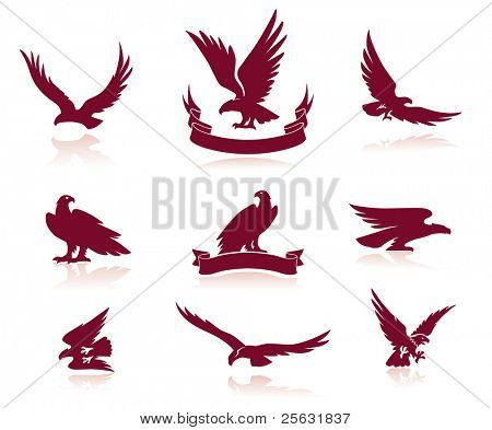 Eagle Silhouettes Set