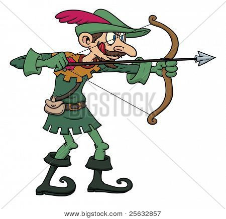 Robin Hood cartoon character.
