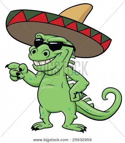 Vectores y fotos en stock de Iguana Mexicana de dibujos animados ...
