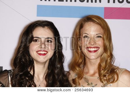 LOS ANGELES - NOV 20: Vanessa Marano; Katie Leclerc at the 2011 American Music Awards Press Room held at Nokia Theatre L.A. Live on November 20, 2011 in Los Angeles, California