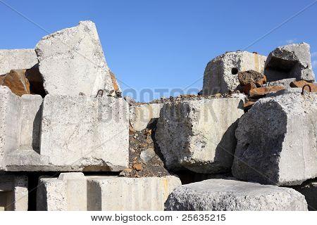 Deteriorating concrete block