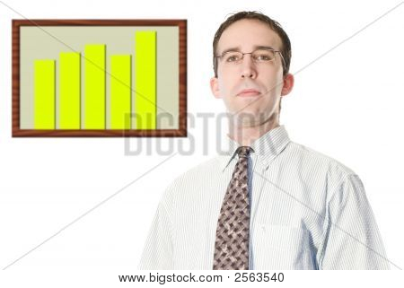 Businessman With Financial Graph