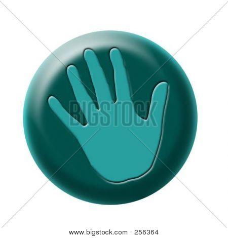Handprint Button