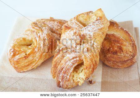 Apple Custard Filled Croissants