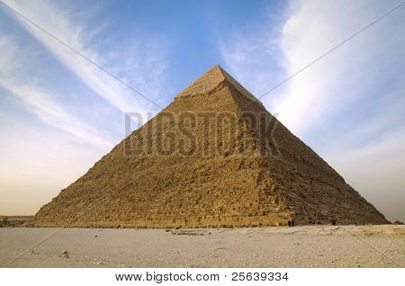 Single Pyramid at Cairo, Egypt.