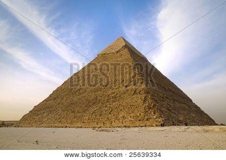 Single Pyramid at Cairo, Egypt.