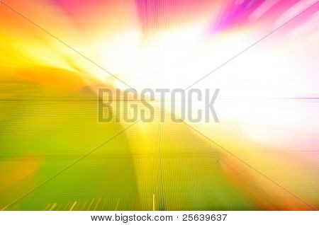Colorful background, zooming effect