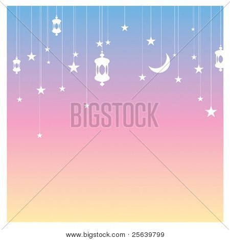 Vector festive card. Ramadan graphics.