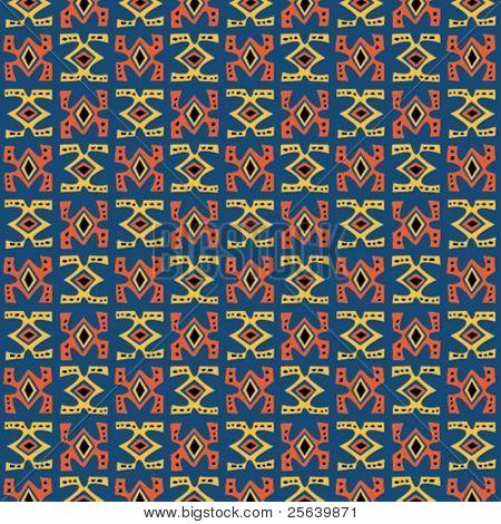 Tribal art. Seamless vector pattern.