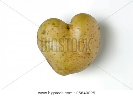 heart-shape, funny potato