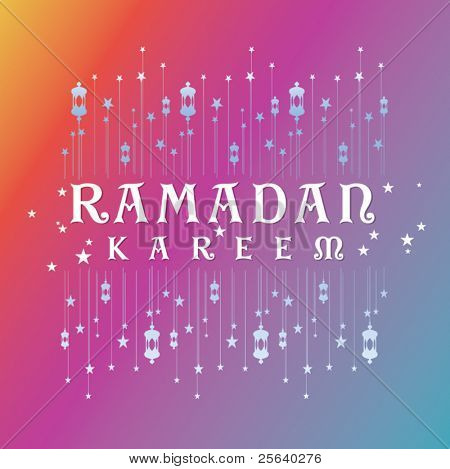 'Ramadan Kareem' vector greeting card