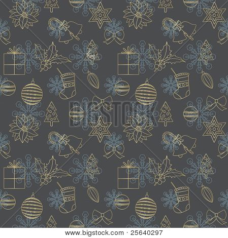 Elegant Christmas Background With Seamless Pattern 1