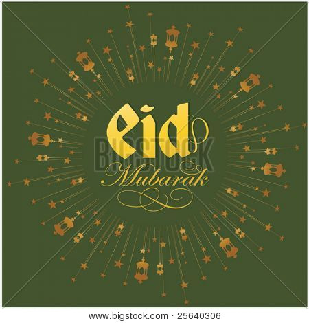 Eid Greeting card vector template