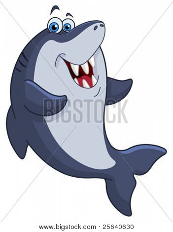 Cheerful shark