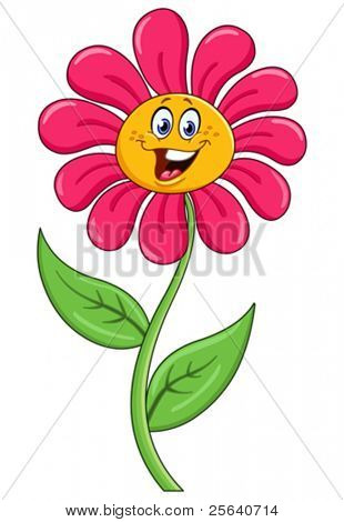 Cartoon Blume