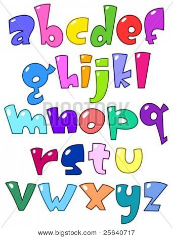 Cartoon kleine alphabet