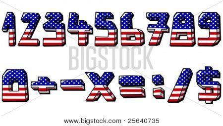 Números de la bandera americana