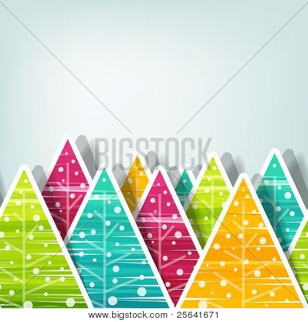 Christmas tree background, seamless vector illustration