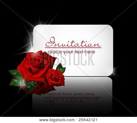white greeting card with rose