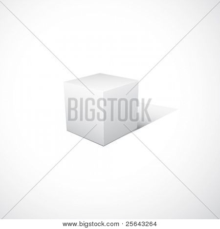 Vector cube on white background