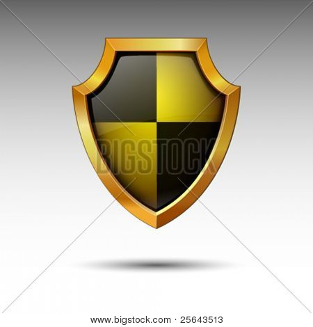 Shield on a white background.