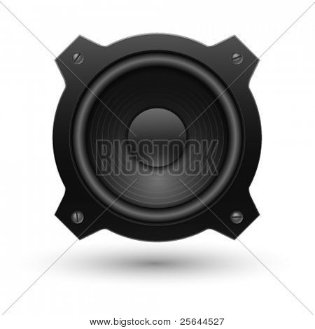 Speaker icon. Vector illustration.