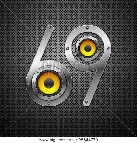 Party design element with speakers . Vectorillustration