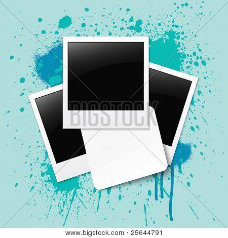 Fotos com etiqueta. Ilustração vetorial. eps10