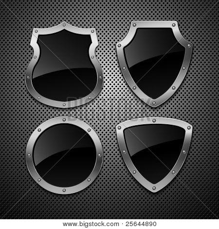 Conjunto de escudos de vector. Ilustración del vector. EPS 10
