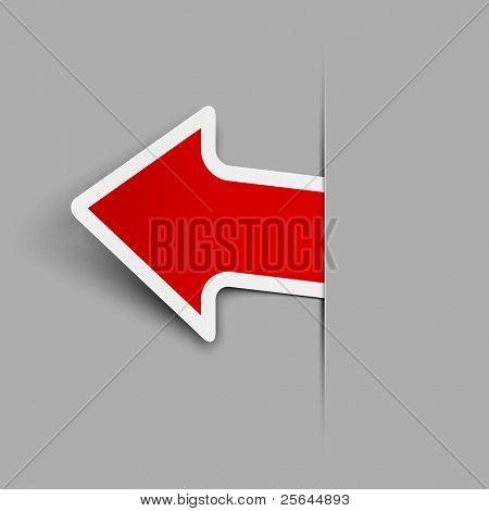 Sticker. Arrow. Vector illustration. Eps 10.