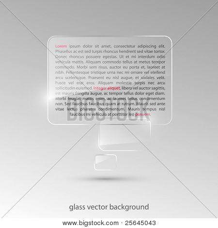 Fundo de vidro. Ilustração vetorial. Eps10