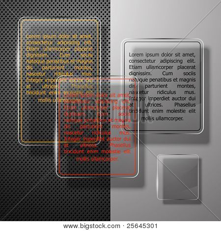 Abstract background with glass framework. Vector illustration.