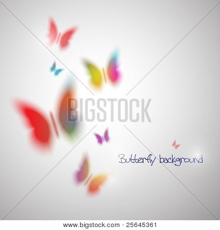 Abstract vector background with butterfly. Eps10