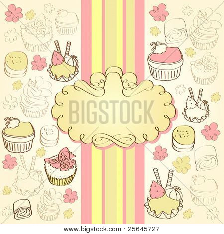 background with cake