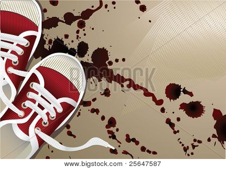 artistic background with sneakers