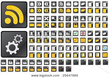 Vector set of 57 web icons. Included rollovers. Easy to edit.