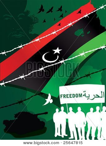 Vector illustration of Libyan rebels
