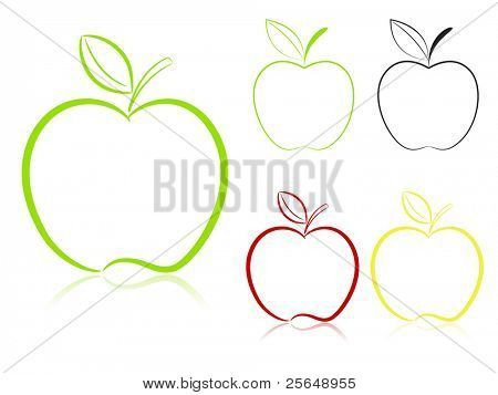 Conjunto de Apple. Vector