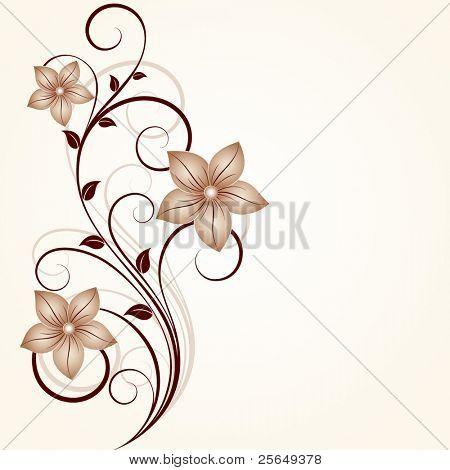 Fundo floral.Elemento para o projeto.