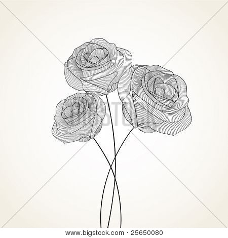 Vintage floral background with flower rose. Element for design.
