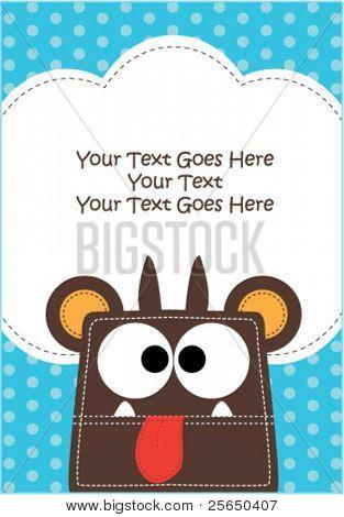 Monster Invitation Card