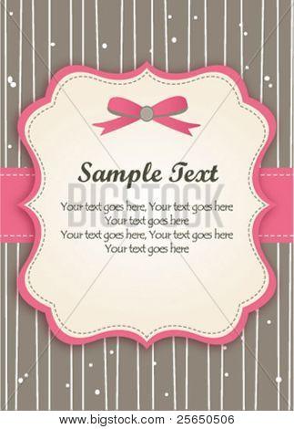Romantic Pink Retro Card
