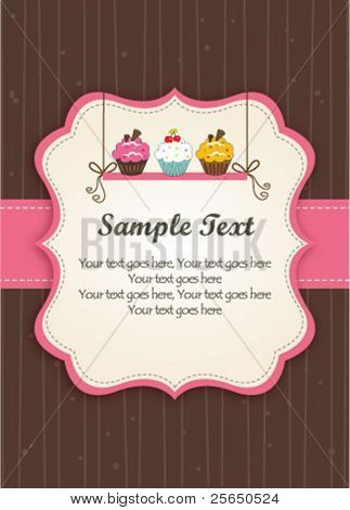 Cupcakes on the shelf-Pink Frame