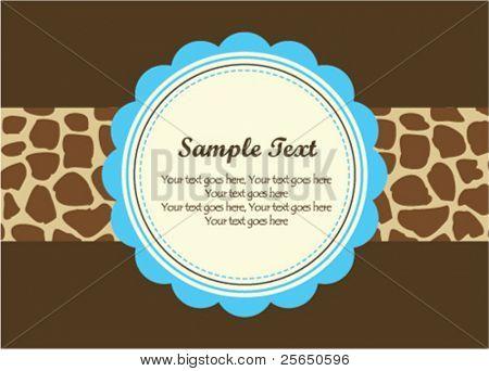 Giraffe pattern frame