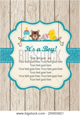 Baby boy invitation