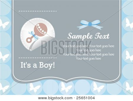 baby boy rattle card